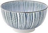 XUEXIU Porcelana Premium Tazón de cerámica Japonesa del hogar Ramen Rice Soup Bowl Partido Cubiertos vajilla de Cocina Fruta Ensaladera Regalo for Catering and Home (Color : Blue, Size : 16CM)