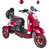 Green Power New Phenomenal 3 Wheeled Electric Mobility Scooter LED Light (Red)