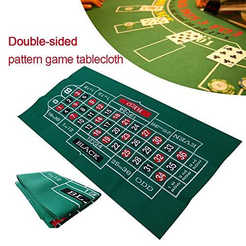 SinceY Roulette Filz Poker Matte Pokerauflage Doppelseitige Muster-Spieltischdecke, Vliestischdecke, Blackjack- Und Roulettetischdecke 60X120cm