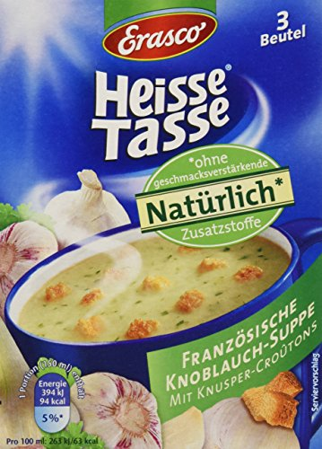 Heisse Tasse Französische Knoblauch-Suppe mit Croûtons Faltschachtel á 3 Beutel á 0,15 l, 12er Pack (12 x 450 ml)