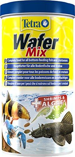 Tetra Wafer Mix - Fischfutter für alle Bodenfische (z.B. Welse) und Krebse, für gesundes Wachstum und eine bessere Widerstandskraft, 1 L