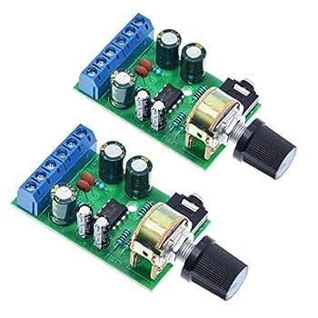 HiLetgo 2pcs TDA2822M DC 1.8-12V 2.0 Channel Stereo Amplifier Mini AUX Audio Amplifier Board Module AMP for Arduino
