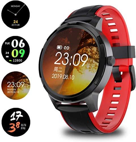 Reloj inteligente con pantalla táctil completa, reloj inteligente con monitor de actividad física con monitor de HR, cronómetro, resistente al agua, I...