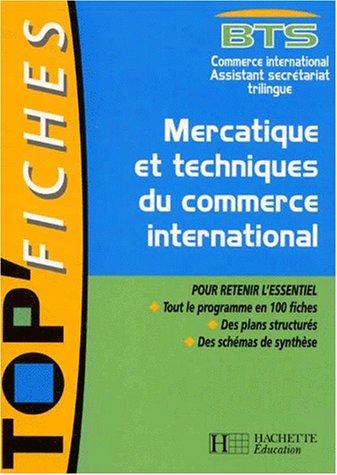 Mercatique et techniques du commerce international BTS Commerce International