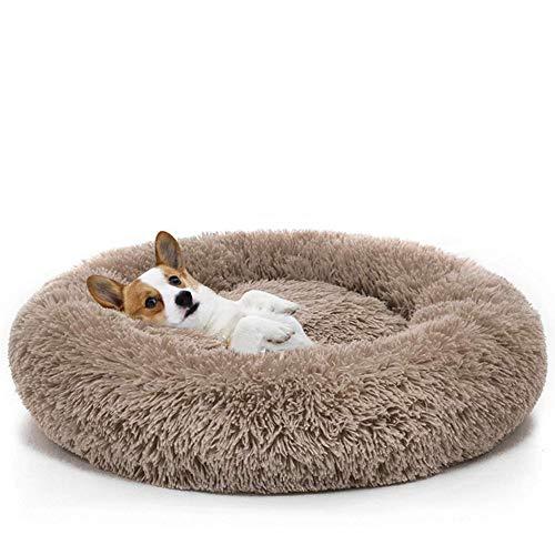 HD2DOG Deluxe Huisdierbed voor honden en katten, rond, pluche huisdier, nest, matras, diepslaap zwinger grote en middelgrote huisdierbenodigdheden