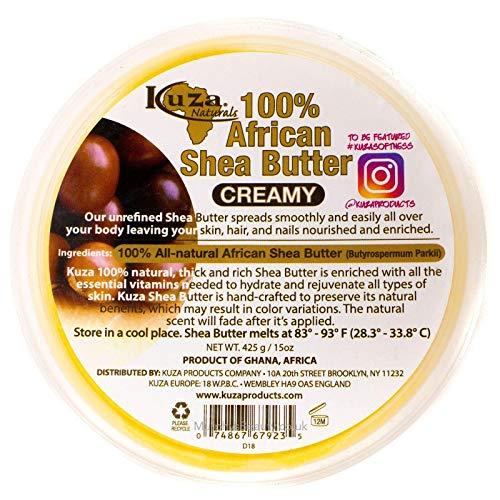 Kuza 100{b4279b86b99c2e85d968e9b0fd73e70520d063229e8a7dc2719fd331e2f1d5c3} African Shea Butter CREAMY 15 OZ by Kuza