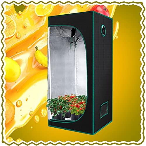 ZXD Armarios De Cultivo, Reflexivo Mylar Jardinería En Crecimiento con Bandeja De Piso Extraíble A Prueba De Luz Cubo Creciente para Planta De Interior (Size : 80x80x160cm/32 x32 x63)