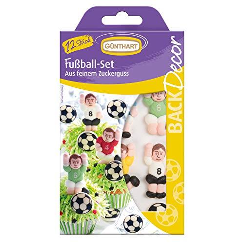 Günthart BackDekor Fußball Tortendeko Set | Fußballer | Pokal | Fußball | Gelbe Karte | Rote Karte