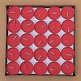 Txyk rauchfreie Kerzen Duftkerze Valentinstag Romantische Kerzen Teelichter Set für Schlafzimmer, Wohnzimmer, Büro 50 Stück rot