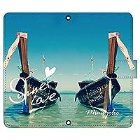 Pixel 5 ケース [デザイン:10.海の上のボート/マグネットハンドあり] サマーラブ 夏 ピクセル5 pixel5 手帳型 スマホケース スマホカバー 手帳 携帯 カバー