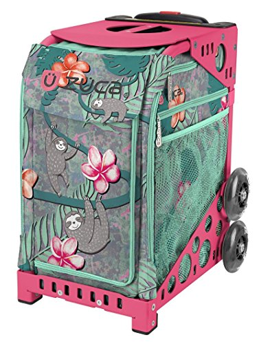 ZUCA Peek-a-Boo Sloth Friends Sport Insert Bag and Pink Frame with Flashing Wheels