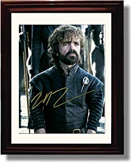 Framed Peter Dinklage - Hand of The Queen - Game of Thrones Autograph Replica Print