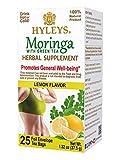 Hyleys Wellness Moringa Oleifera Green Tea Lemon - 25 Tea Bags (100% Natural, Sugar Free, Gluten Free and Non-GMO)