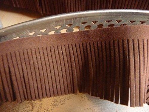 Fransen Band, Braun, Wildleder Optik, 5 cm breit