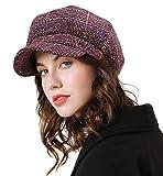 Superora Boinas Mujer Sombreros Gorras Invierno Francesa Tartán Vintage Casual Clásico...