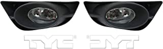 Fits 2009-2011 Honda FIT Pair Driver and Passenger Side Fog Light DOT Certified With Bulbs Included HO2592122 HO2593122 - Replaces 33951-TK6-305 33901-TK6-305 ;
