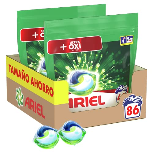 Ariel Pods Detergente Lavadora Cápsulas, 86 Lavados (Pack 2 x 43), Efecto Oxi Quitamanchas