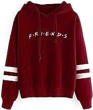 Womens FRIENDS Print Hoodie Hoody Sweatshirt Ladies Pullover Jumper HMRBA