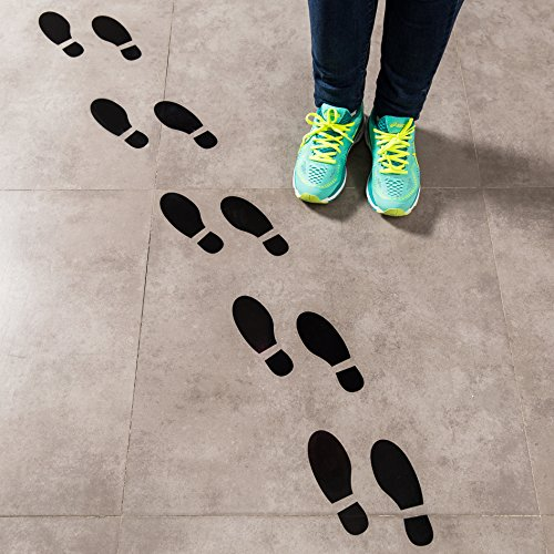 Spy Agents of Truth Footprint Floor Decals Black Shoe Footprint Stickers for School Classroom Decoration Social Distancing 16 Prints