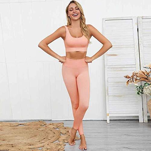 GUOJIAYI Women Sport Suit Gym Yoga Sets Elastic Gym Running Sport Suit Fitness Clothes Workout Sport Wear Sports Bra + Pants Set Fitness