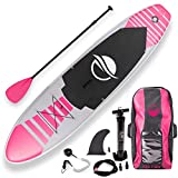 SereneLife Premium Inflatable Stand Up Paddle Board (6 Inches Thick) with SUP Accessories