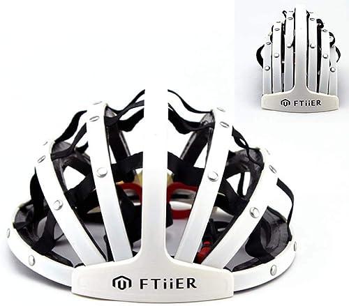 WSHZ Casque de vélo, Pliant Casque vélo vélo Route Pliable Pliable portable Casque réglable M L Taille 22-24 Pouces pour Adultes Hommes & Femmes vélo Sport sécurité équipeHommest de Prougeection,blanc