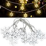 Cadena de luces LED de FEIGO con estrellas, decoración para el día de San Valentín, Navidad, bodas, cumpleaños, fiestas, dormitorio, interior y exterior, 2 m