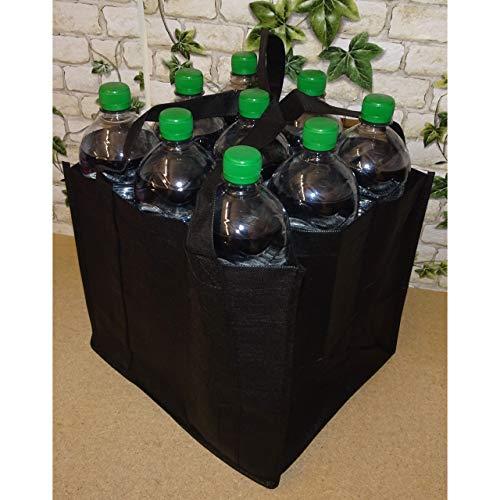 1a-becker Flaschenträger für 9 Flaschen Tragetasche Bottlebag Flaschentasche Tasche schwarz 27cm