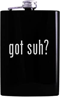 got suh? - 8oz Hip Alcohol Drinking Flask, Black