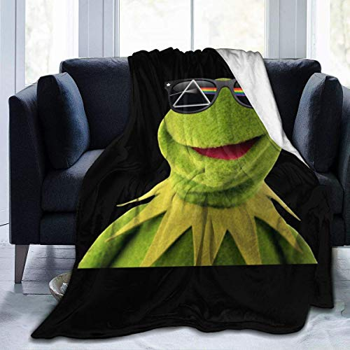 PageHar Kermit The Frog Super Soft Blanket for Winter All Season Warm Micro Fleece Lightweight Fleece Blankets for Couch Bed Sofa