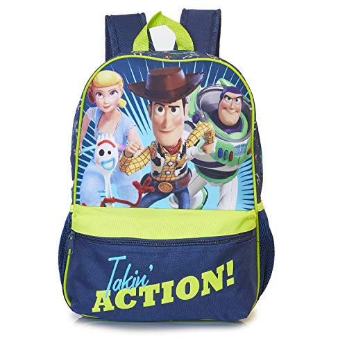 Toy Story 4 Forky Backpack, Kids Rucksack with Official Toy Story Characters Forky Woody, Buzz, Bo Peep, Perfect Childrens School Bag, Travel Bag