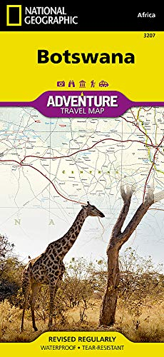 Botswana: Travel Maps International Adventure Map (National Geographic Adventure Map, Band 3207)