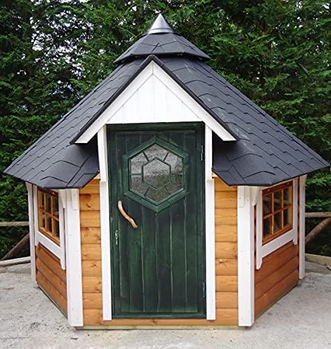 Generisch Grillkota 4.9m²   Hochwertiges Grillhaus für den Garten   Als Bausatz inkl. Montagematerial Via Nordica