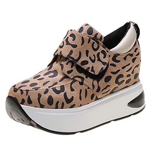 luoluo Sportschoenen Plateau dames vrijetijdsschoenen zomer schoenen met hak sneakers