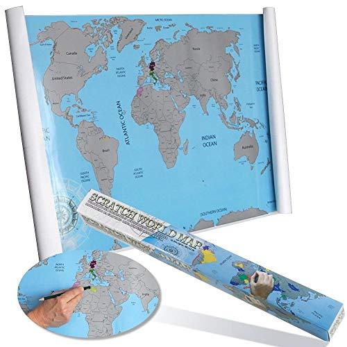 Landkarte zum Freirubbeln. Ganze Welt (88 x 52 cm)