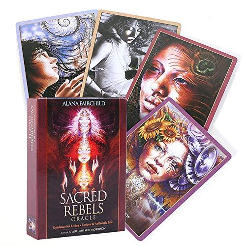 HALASHAO 45PCS Heilige Rebellen Oracle Tarot-Karten Deck-Party Solitaire Brettspiel-Karten Englisches Divination Tarot-Karten