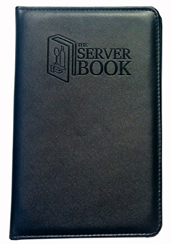 The Server Book with Zipper Pocket - Black Waitress/Waiter Book with Money Pocket for Every Apron - Food Service Equipment & Supplies - Menu & Guest Check Disiplayers-5.2 x 8 inches (1)