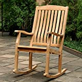 Outdoor Rocking Chairs,Traditional Style Sherwood Natural Brown Teak Porch Rocking Chairs