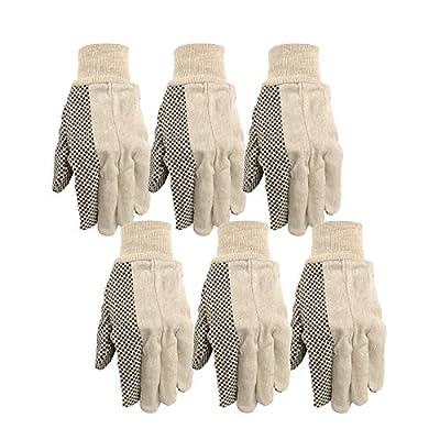 Wells LamontCanvas Work Gloves, Economy Dotted, 6 Pair Pack (309K)