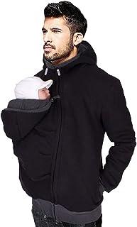 amropi Portabebé Chaqueta para Hombre Sudadera Canguro con Capucha con Bolsillo Portador de Bebé