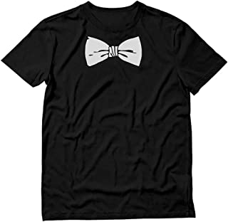 Printed Tuxedo with White Bow Tie Funny Tux Men's T-Shirt