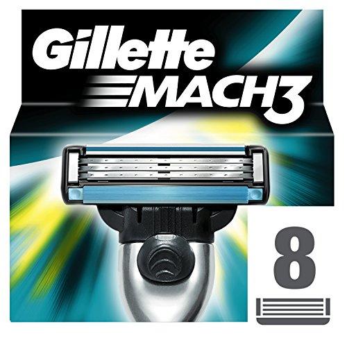 Gillette Mach3 Rasierklingen für Männer, 8 Stück, Briefkastenfähige Verpackung