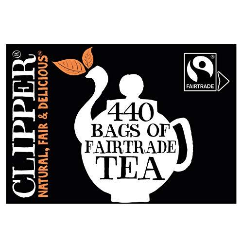 Clipper Natural Fair & Delicious - Fairtrade Tea, unbleached Bags, 440 Teabags