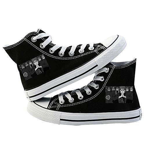 LKKOY Parcial Naruto Mujer Zapatos Sneakers para Caminar Zapatillas Aptitud Zapatos Zapatillas para Hombre Zapatillas Unisex Adulto,Black 35