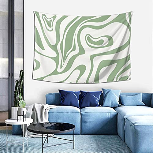 Sage Green Tapestry Wall Hanging.Aesthetic Tapestry For Bedroom Living Room Dorm Room Decor Poster Tapestry 60*40 Inch