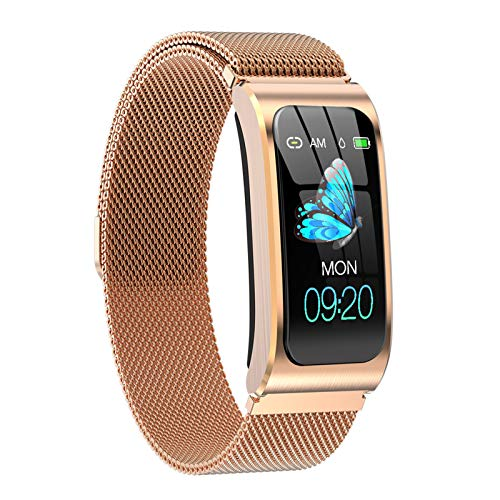 HQPCAHL Smartwatch, Reloj Inteligente con Pulsómetro 1.14 Inch HD, Impermeable IP67, Cronómetros, Calorías Podómetro, Monitor De Sueño, Hombre Mujer para Android Y iOS,F