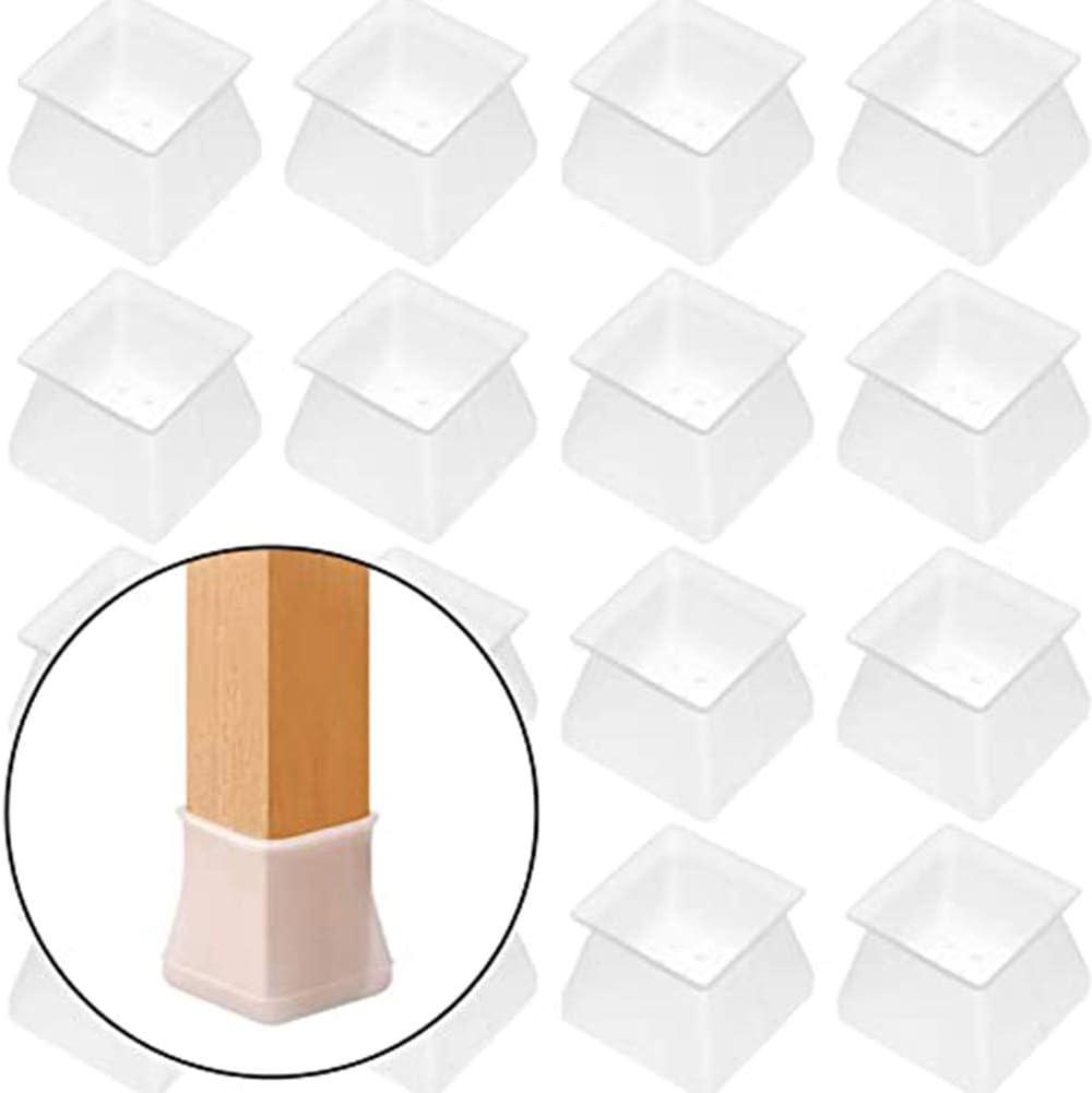 4 piezas protecci/ón antiara/ñazos Zoloyo patas de silla protecci/ón de suelo de madera Tapones para patas de silla 4//8//16 piezas protector de muebles de silicona cuadrado para silla
