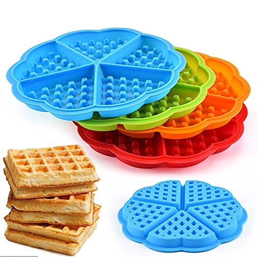 Stampo per waffle, stampo da forno in silicone 4PCS, stampo per torta, stampo per cubetti di ghiaccio, stampo per caramelle al cioccolato