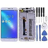Dongdexiu MobilePhone LCD Pantalla para ASUS Zenfone 3 MAX ZC553KL Pantalla LCD Pantalla táctil con Marco Reemplazo del teléfono (Color : Blanco)