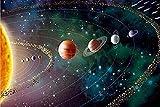 Amnogu Puzzles Rompecabezas Cielo Estrellado Sistema Solar El Rompecabezas De Madera 1000 Piezas Rompecabezas De Madera Juguetes Educativos para Niños Adultos